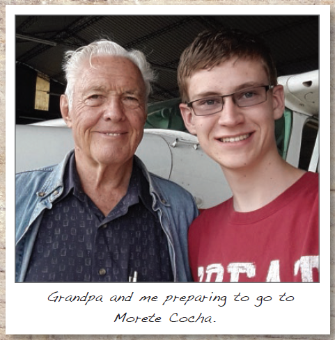 A GRANDFATHER AND GRANDSON SERVING IN ECUADOR