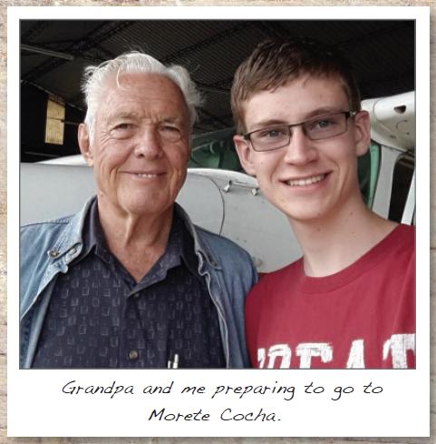 A GRANDFATHER AND GRANDSON SERVING IN ECUADOR